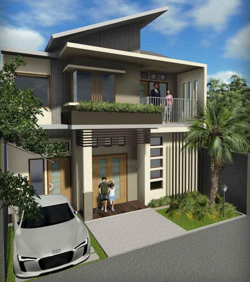 15 Inspirasi Desain Rumah 2 lantai Modern Minimalis
