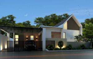 desain atap plana modern